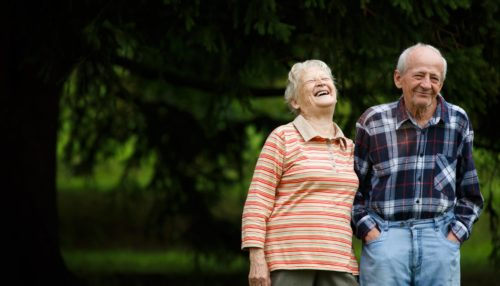 Memory care senior couple in Maryland