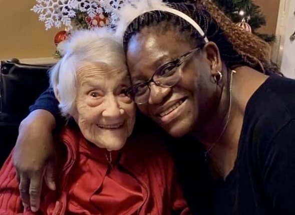Memory care worker and resident in Bethesda, MD